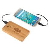 Bamboo 5,000 mAh Power Bank-University Mark Engraved