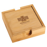 Bamboo Coaster Set-University Mark Engraved