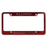 Alumni Metal Red License Plate Frame-Arkansas State
