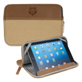 Field & Co. Brown 7 inch Tablet Sleeve-Red Wolf Head Engraved