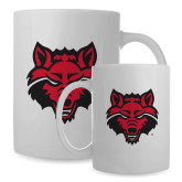 Full Color White Mug 15oz-Red Wolf Head