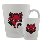 12oz Ceramic Latte Mug-Red Wolf Head