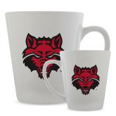 Full Color Latte Mug 12oz-Red Wolf Head