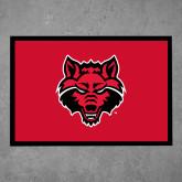 Full Color Indoor Floor Mat-Red Wolf Head