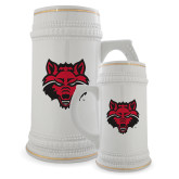 Full Color Decorative Ceramic Mug 22oz-Red Wolf Head