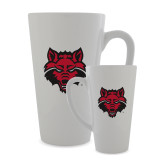 Full Color Latte Mug 17oz-Red Wolf Head