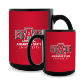 Full Color Black Mug 15oz-University Mark