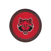 Round Coaster Frame w/Insert-Red Wolf Head