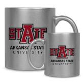 Full Color Silver Metallic Mug 11oz-University Mark