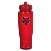 Spectrum Red Sport Bottle 28oz-Red Wolf Head