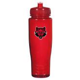Spectrum Red Sport Bottle 28oz-Red Wolf Head