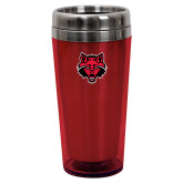 Solano Acrylic Red Tumbler 16oz-Red Wolf Head