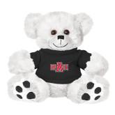 Plush Big Paw 8 1/2 inch White Bear w/Black Shirt-A State