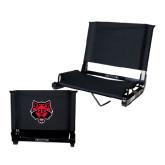 Stadium Chair Black-Red Wolf Head