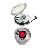 Travel Earbuds-Red Wolf Head