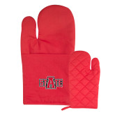 Quilted Canvas Red Oven Mitt-A State