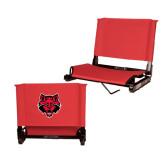 Stadium Chair Red-Red Wolf Head