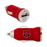 On the Go Red Car Charger-Red Wolf Head