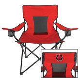 Deluxe Red Captains Chair-Red Wolf Head