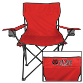 Deluxe Red Captains Chair-Red Wolf Head w/A State