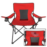 Deluxe Red Captains Chair-Red Wolves Stacked Head Centered