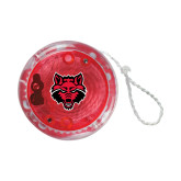 Light Up Red YoYo-Red Wolf Head