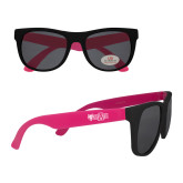Black/Hot Pink Sunglasses-Red Wolf Head w/A State