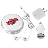 3 in 1 White Audio Travel Kit-A State