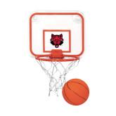 Mini Basketball & Hoop Set-Red Wolf Head