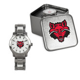 Ladies Stainless Steel Fashion Watch-Red Wolf Head