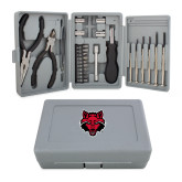 Compact 26 Piece Deluxe Tool Kit-Red Wolf Head