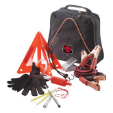 Highway Companion Black Safety Kit-Red Wolf Head