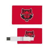 Card USB Drive 4GB-Red Wolf Head
