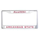 Alumni Metal License Plate Frame in Chrome-Arkansas State