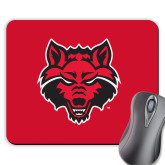 Full Color Mousepad-Red Wolf Head