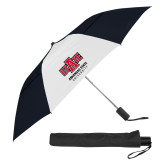42 Inch Slim Stick Black/White Vented Umbrella-University Mark