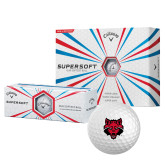 Callaway Supersoft Golf Balls 12/pkg-Red Wolf Head