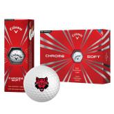 Callaway Chrome Soft Golf Balls 12/pkg-Red Wolf Head