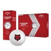 Callaway Chrome Soft Golf Balls 12/pkg-Red Wolf Head