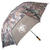 58 Inch Hunt Valley Camo Umbrella-Red Wolf Head