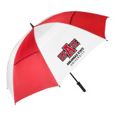 62 Inch Red/White Vented Umbrella-University Mark