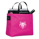 Tropical Pink Essential Tote-Red Wolf Head