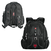 Wenger Swiss Army Mega Black Compu Backpack-Red Wolf Head