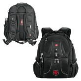 Wenger Swiss Army Mega Black Compu Backpack-Red Wolf Head