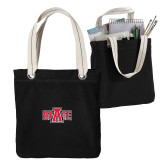 Allie Black Canvas Tote-A State