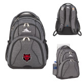 High Sierra Swerve Graphite Compu Backpack-Red Wolf Head