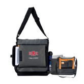 Impact Vertical Grey Computer Messenger Bag-A State, Personalized