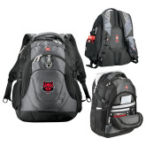 Wenger Swiss Army Tech Charcoal Compu Backpack-Red Wolf Head