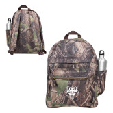 Heritage Supply Camo Computer Backpack-Red Wolf Head