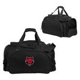 Challenger Team Black Sport Bag-Red Wolf Head